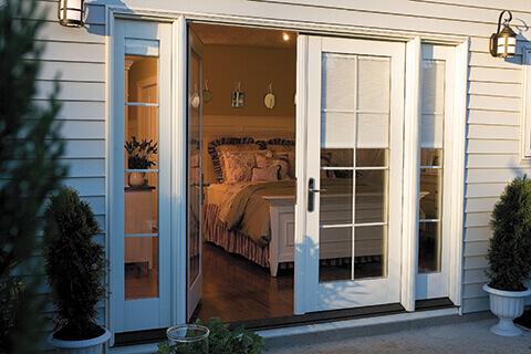 sliding glass doors or french doors