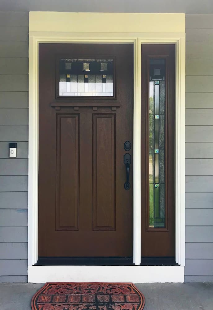 Beautiful Fiberglass Entry Door Enhances Curb Appeal