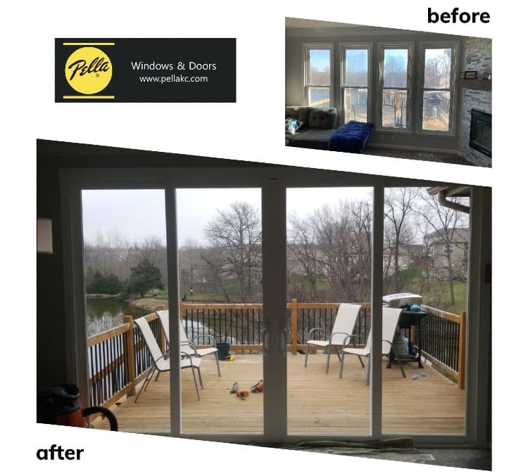 turning windows into sliding glass