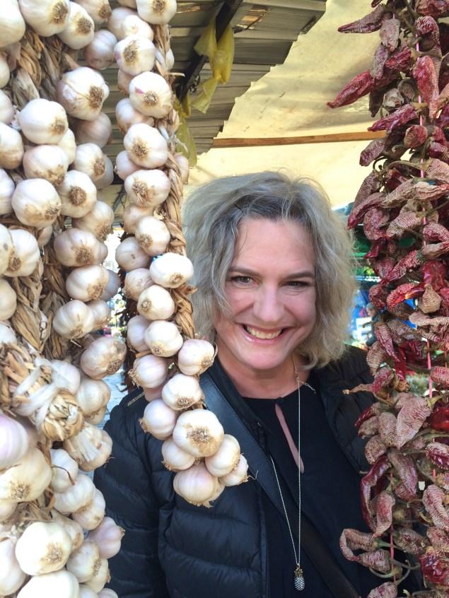 Kollegan Karin bland vitlök och chili