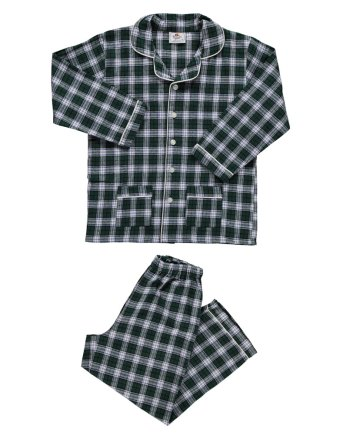 pigiama in flanella lungo verde scozzese
