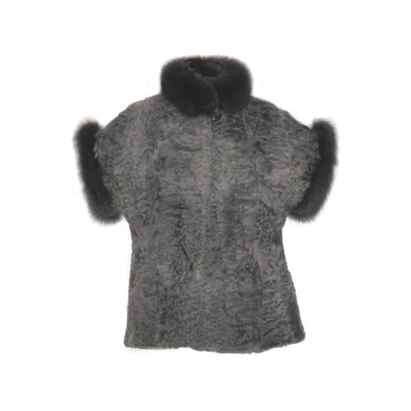 Smanicato in Persiano grigio e Volpe