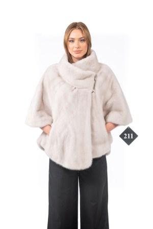 White mink cape