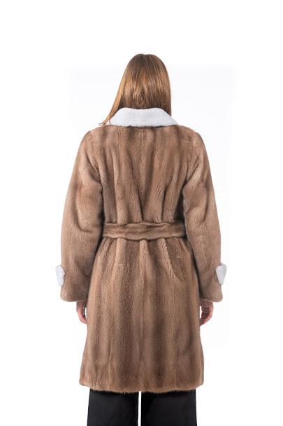 Cappotto di Visone con cintura