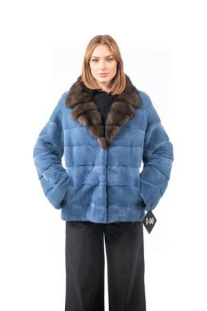 Light blue mink jacket