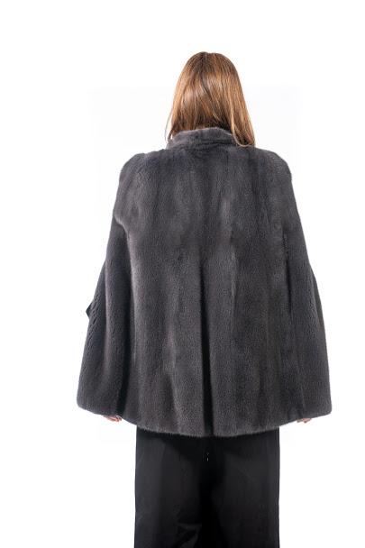 Giacca in visone grigio