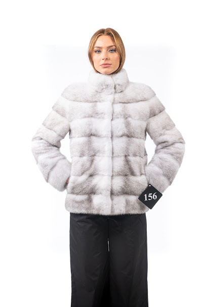 White mink jacket