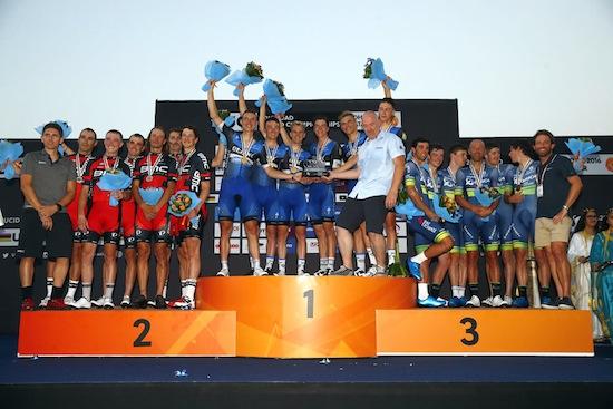 Etixx in the Elite Mens TTT of the 2016 World Road Championships