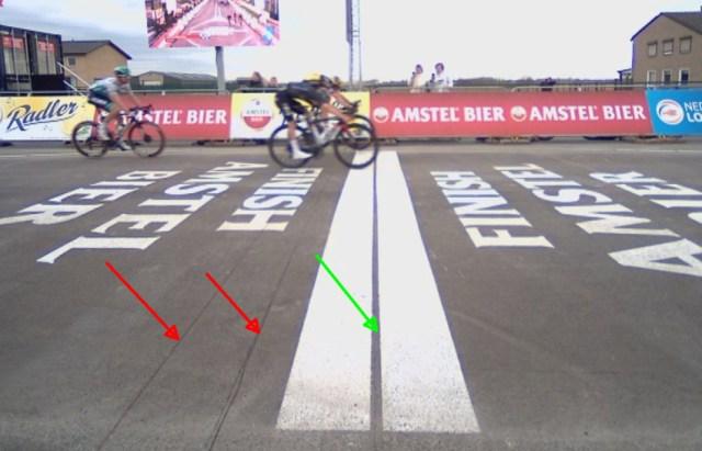 Detalhe imagem chegada Amstel Gold Race | Foto Getty