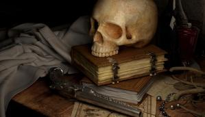 Schusswaffe - Totenkopf - Pirat - pelzblog