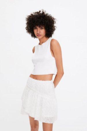 Zara beyaz etek modelleri 2020