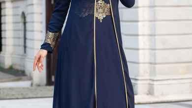 Lacivert-Tesettür-Gelin-Annesi-Elbise-Modelleri