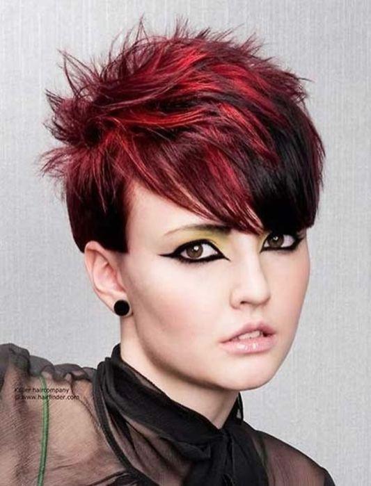 Rote-Haarfarbe-fur-kurze-Frisuren-Cooles-Haarschnitt-Tutorial-fur-2017-2018