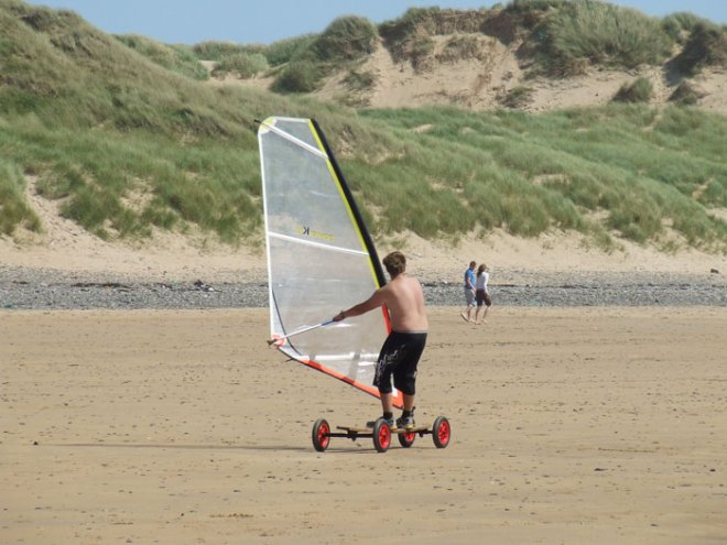 Kite Boarding in the Pembrokeshire Coast National Park
