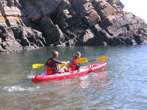 Kayaking in the Pembrokeshire Coast National Park