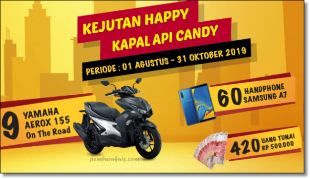 kejutan happy kapal api candy