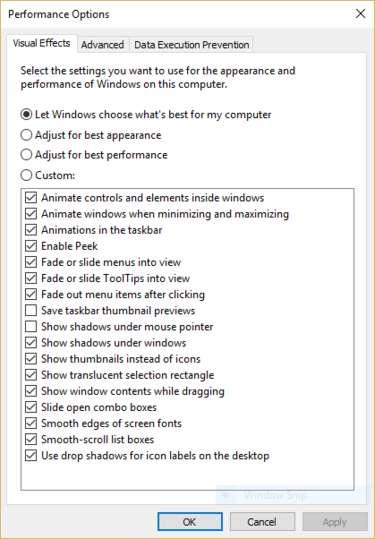 performance-options