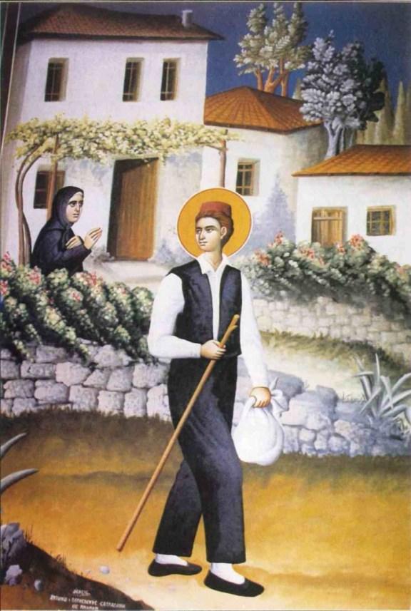 Agios Neomartys Argyros anahoron apo tin Epanomi, Toihografia Naou Agiou Argyriou