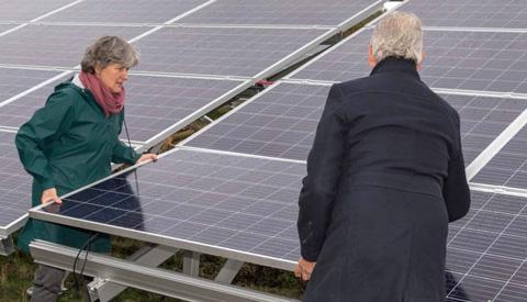 Zonnenergie park coöperatie e-Lekstroom in Nieuwegein officieel geopend!
