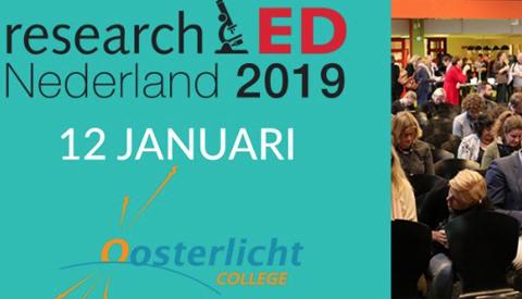 'ResearchED Nederland 2019' 12 januari bij Oosterlicht College Nieuwegein