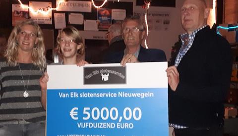 € 5.000,- voor de Voedselbank in Nieuwegein