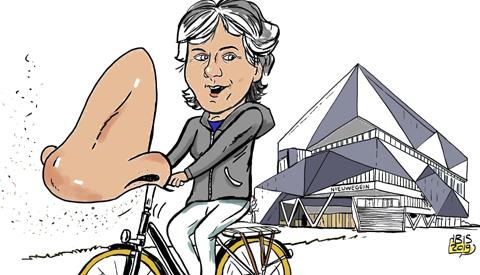 PENTekening: 'Snuffelen op de fiets in Nieuwegein'