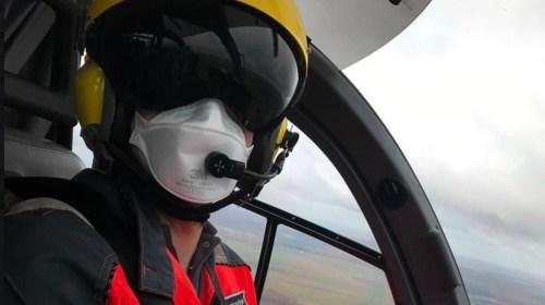 Landingsplaats voor traumahelikopter langs de Doorslag