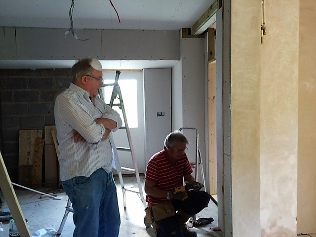 Nearly ready to plaster - and the supervisor agrees too...