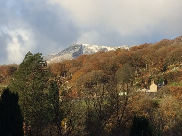 Some of the first snow of this winter highlighting Moel Siabod