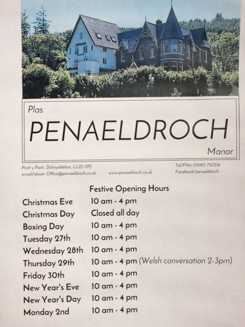 Our holiday opening hours
