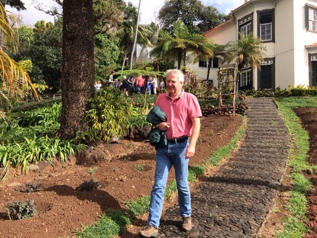 Just for a change, a shot of Mike in the Botanic Gardens of Madeira