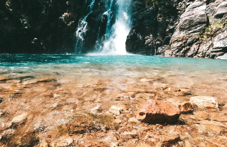 Cachoeira da Serra Azul, em Nobres: