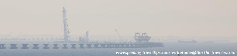 Construction of 2nd Penang Bridge in progress