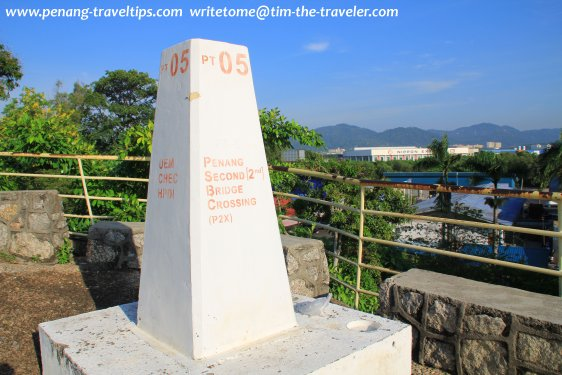 Second Penang Bridge marker