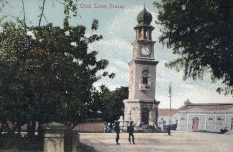 Clock Tower Penang Postcard: View from Penang Street