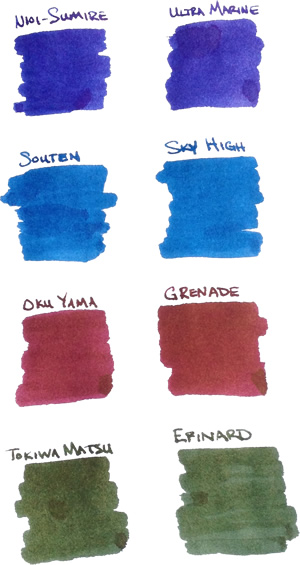 New Sailor Jentle Ink Colors vs Old
