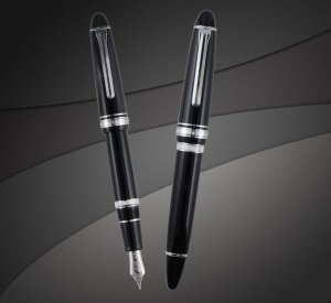 Sailor 1911 Realo Fountain Pen in Black with Silver Trim