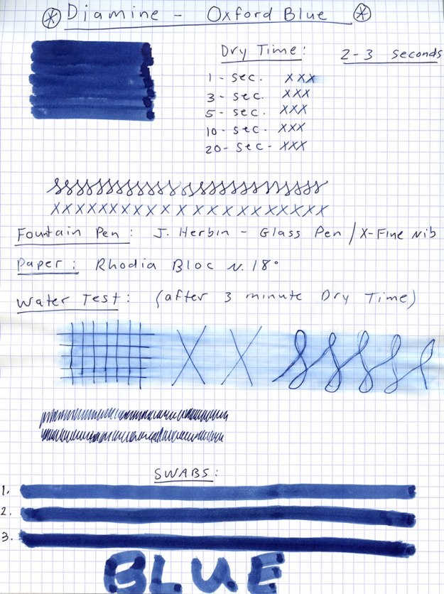 Diamine Oxford Blue Ink