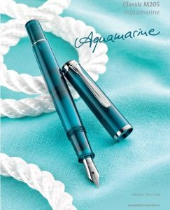 Pelikan Classic M205 Aquamarine Demonstrator Fountain Pen