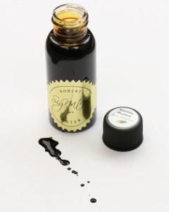 Robert Oster Marrone Mustard Ink Sample