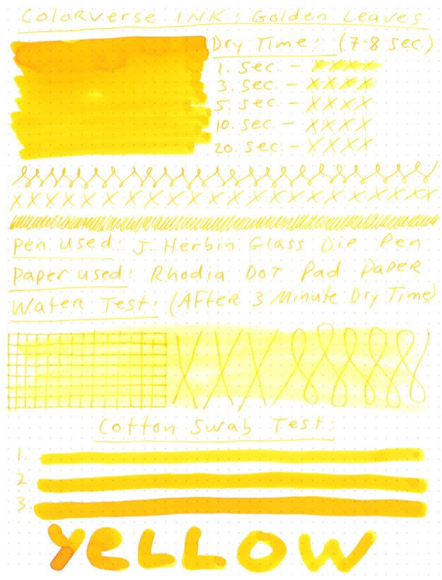 Colorverse Golden Leaves Ink Review