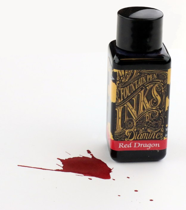 Diamine Red Dragon Ink Bottle
