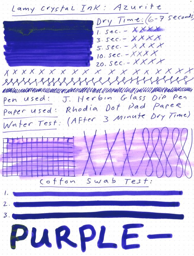 Lamy Crystal Azurite Ink Review