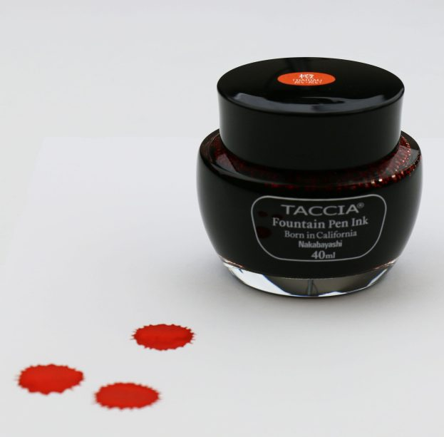 Taccia Daidai Orange Ink Review with Pen Chalet