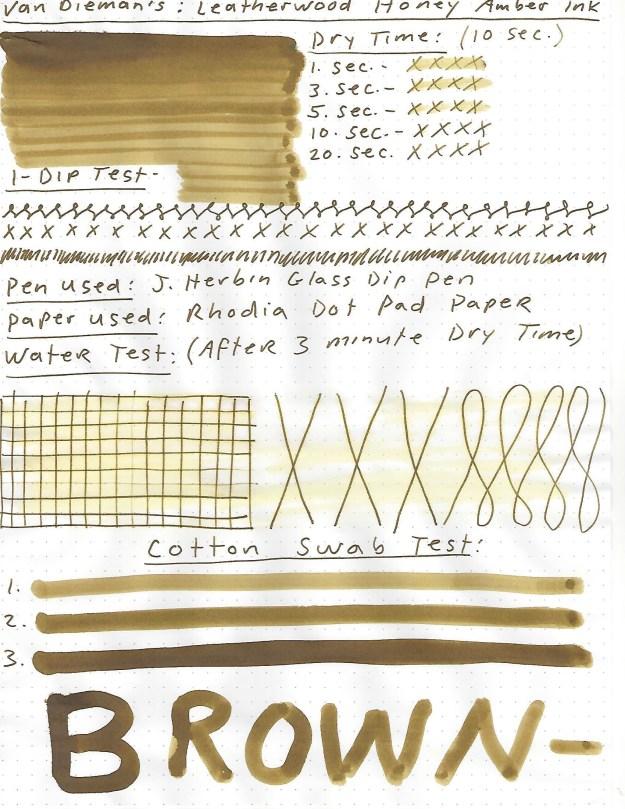 Van Dieman's Leatherwood Honey AMber ink review