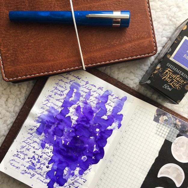 Benu Supreme Azure Fountain Pen Review with @acourtofwingsandjournals