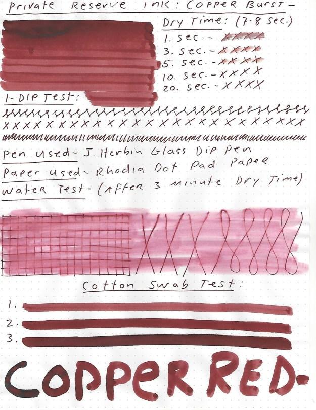 Private Reserve Copper Burst ink