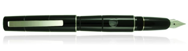 Delta Oblo Fountain Pen in Black with Stainless Steel Nib