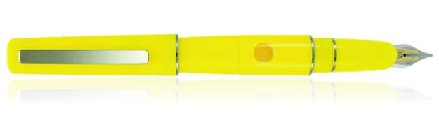 Delta Oblo Fountain Pen in Yellow with Fusion Nib