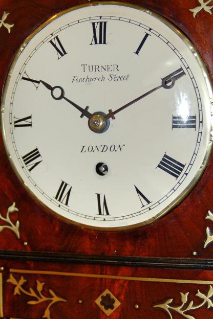 Fine mahogany white dial convex clock